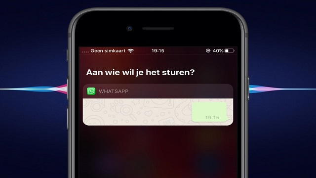 Send WhatsApp messages with Siri