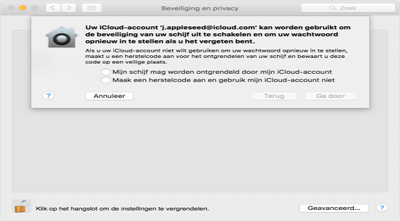 Disable FileVault