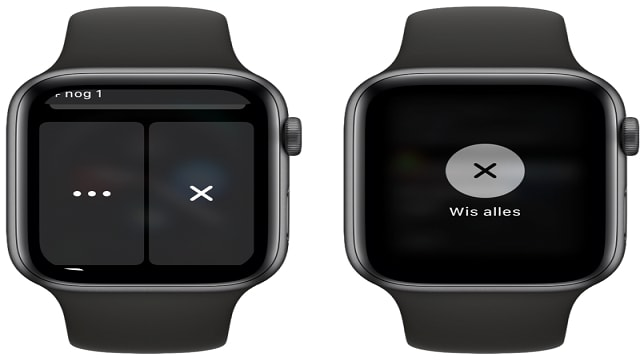 Notifications close Apple Watch