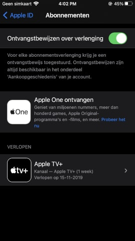 Apple One available Netherlands