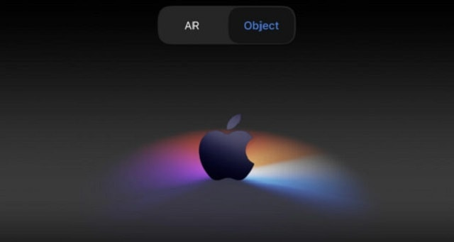 Apple's AR announcement on its event website