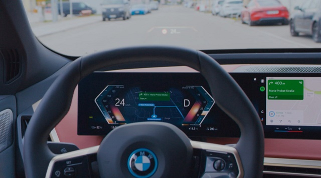 Android Auto in the BMW iX